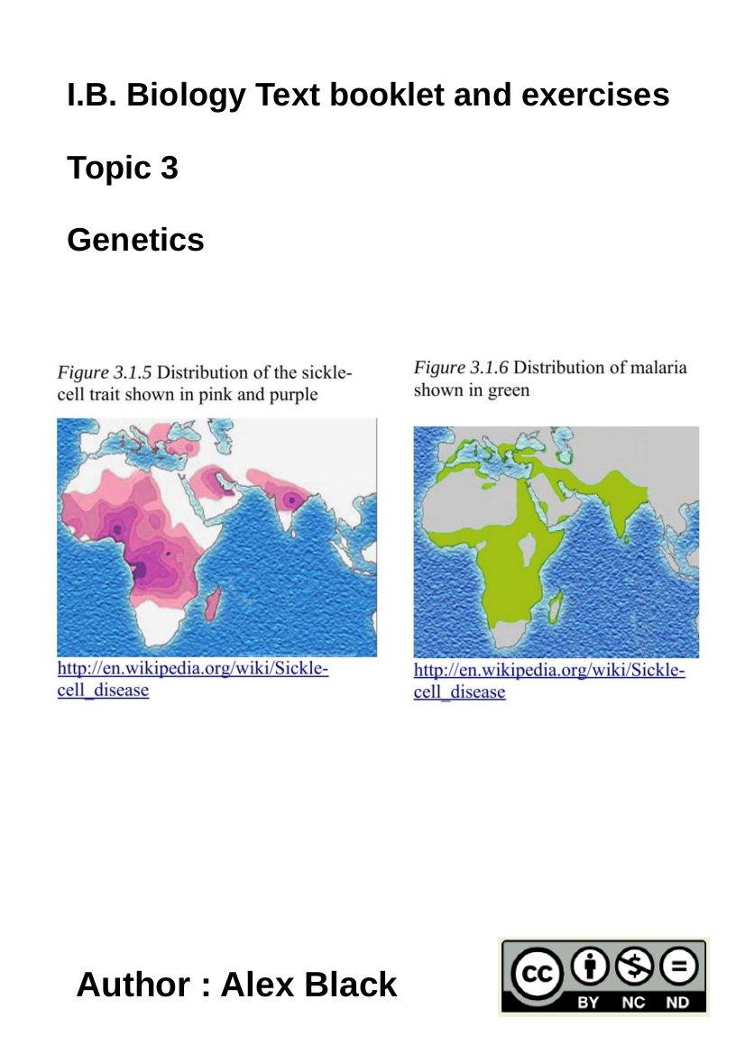 Cover image for Topic 3 Genetics