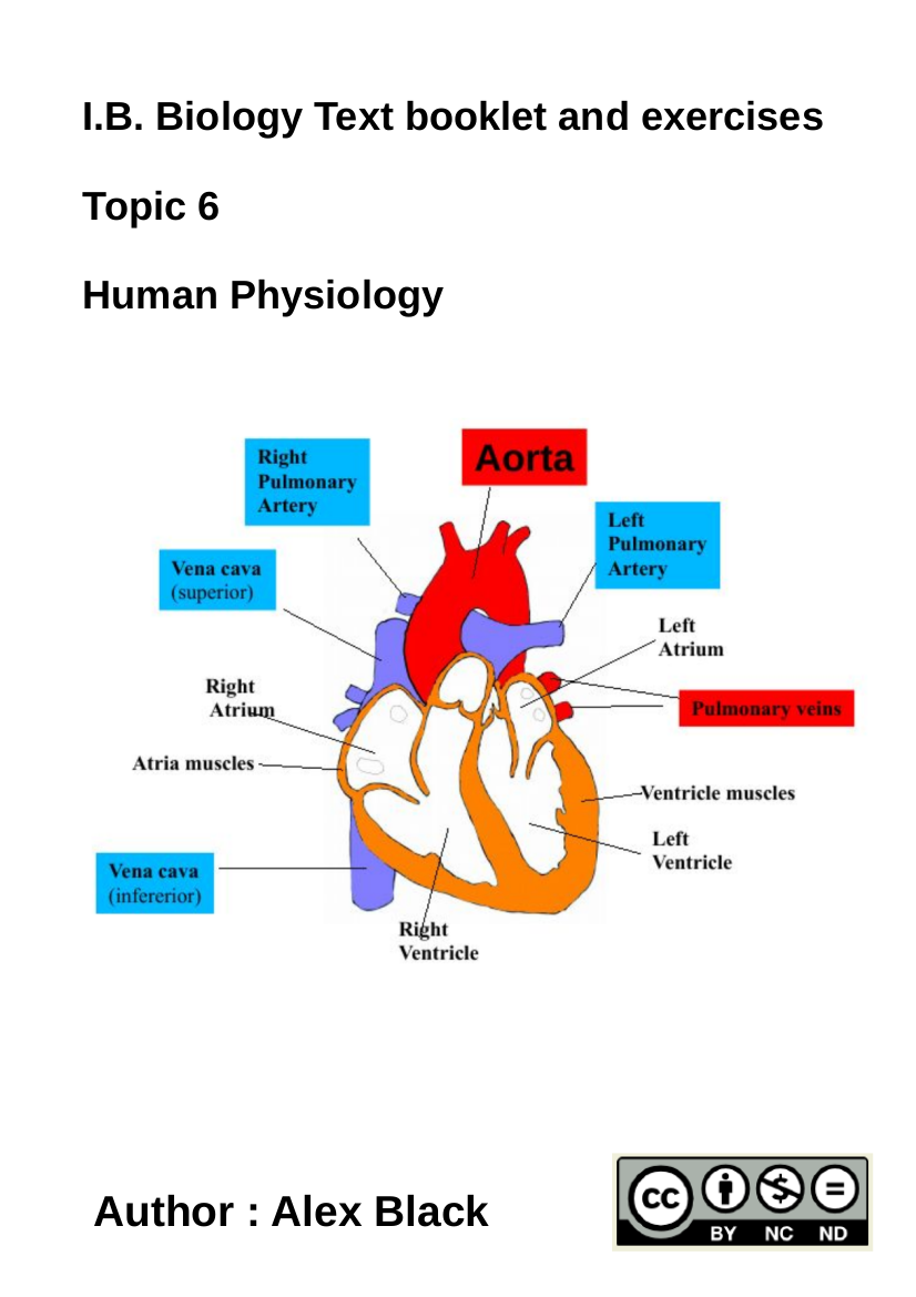 Cover image for Topic 6 Human Physiology