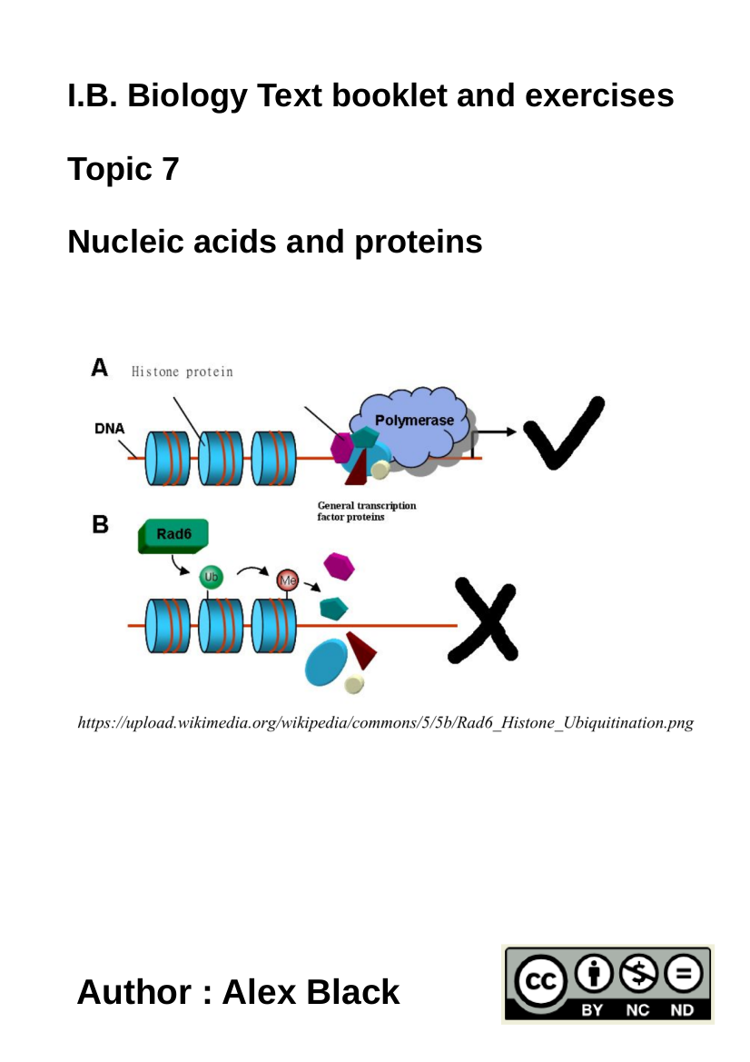Cover image for HL Topic 7 Nucleic acids and proteins