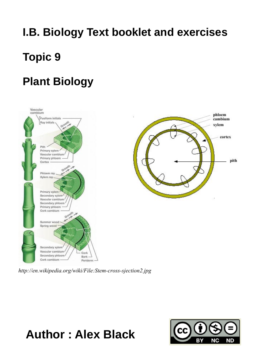 Cover image for HL Topic 9 Plant Biology